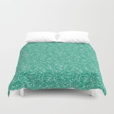 Schoolyard Aviation Green Duvet Cover