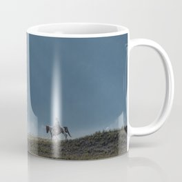 The lonely horse rider at Bromo, East Java, Indonesia Coffee Mug