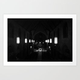Night prayer Art Print