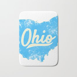 Ohio Gift I Love My Ohio Home Cleveland Cincinnati Akron OH Bath Mat