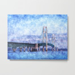 The Mackinac Bridge Metal Print