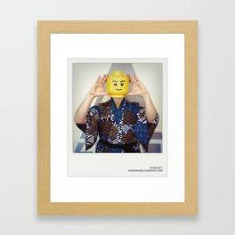 Minifig me ! – Everyone has a LEGO piece inside - 4 Framed Art Print