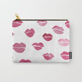 Lipstick Kiss Watercolor Carry-All Pouch