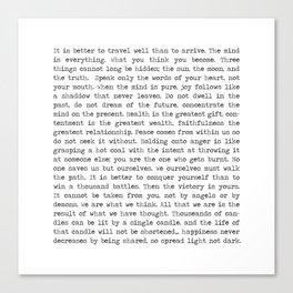 The Wisdom of Buddha Canvas Print