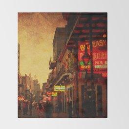 Bourbon Street Grunge Throw Blanket