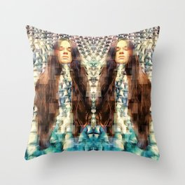 A tale of two Throw Pillow