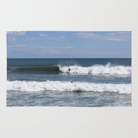 surfer Area & Throw Rugs featuring Surfer by moonstarsunnj