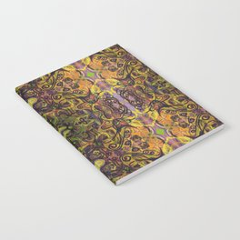 Fall Cat Pattern Notebook