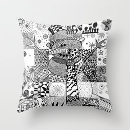 Snowman Throw Pillow