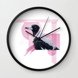 Australian Magpie Wall Clock