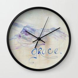 Grace Mountains by Ainé Daveéd Wall Clock