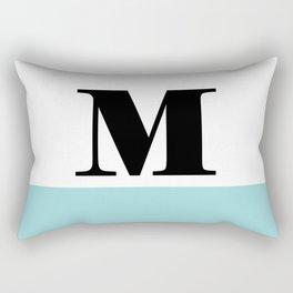 Monogram Letter M-Pantone-Limpet Shell Rectangular Pillow