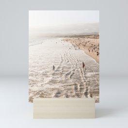 Coast Of California Santa Monica  Photo | Pacific Ocean Beach Art Print | USA Travel Photography Mini Art Print