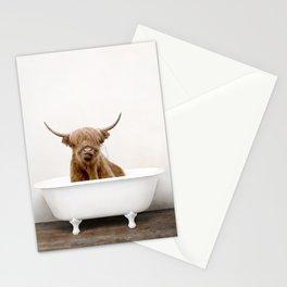 Highland Cow in a Vintage Bathtub (c) Stationery Cards