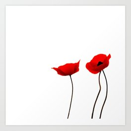 Simply poppies Art Print