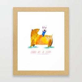 Brave as a Bear Framed Art Print