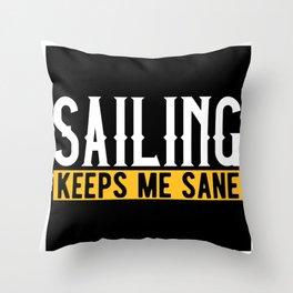 Sailing Lovers Gift Idea Design Motif Throw Pillow