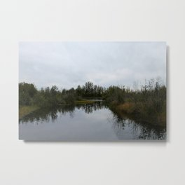 Nature Reflection Metal Print