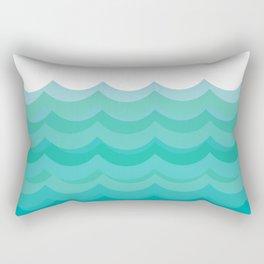 Wave pattern, blue and green pattern, home decor Rectangular Pillow