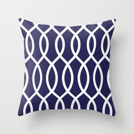 Lacey Blue Throw Pillow
