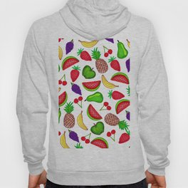 Tutti Fruity Hand Drawn Summer Mixed Fruit Hoody
