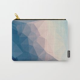 BE WITH ME - TRIANGLES ABSTRACT #PINK #BLUE #1 Carry-All Pouch