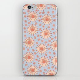 Carousel Blue Retro iPhone Skin