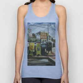 Newspaper Depot on America's Cup Avenue, afternoon sun, Fall 1997 Unisex Tank Top
