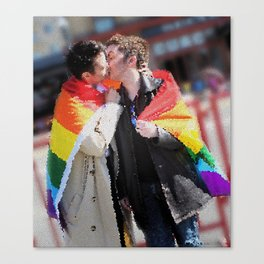 Destiel Pride Stained Glass Canvas Print