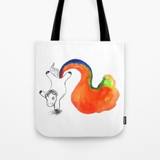 Rainbow Farting Unicorn Tote Bag