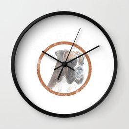 "A Nice Boxing Tee For Boxers Saying ""Boxer Dad"" T-shirt Design Dog Pug Bulldog Boxer Ring Gloves Wall Clock"
