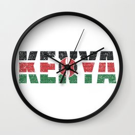Kenya Flag Vintage Kenyan National Country Gift Wall Clock