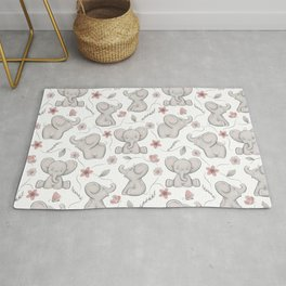 Cute elephants Rug