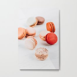 Fruit Macaron Print, Macarons Sweets On Marble, Minimal Cookie Concept Art, Printable Sweet Candies, Candy Print, French Bakery Metal Print