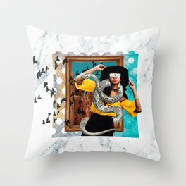 Controlled Chaos Throw Pillow