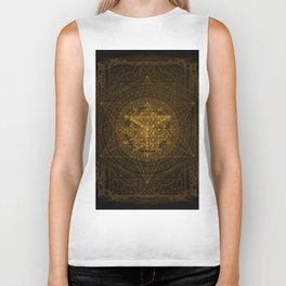 Dark Matter - Gold - By Aeonic Art Biker Tank