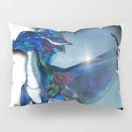 Cute Dragon in blue Pillow Sham