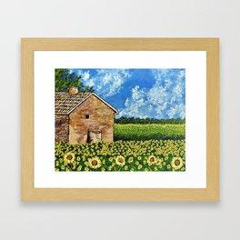 Sunflowers In Provence France Framed Art Print