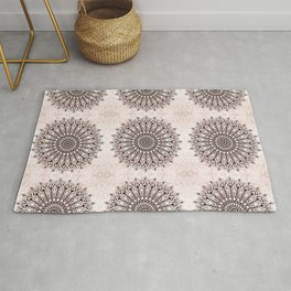 Zen brown mandala pattern Rug