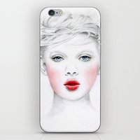 chill iPhone & iPod Skins featuring Chill by Miss L in Art