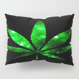 Weed : High Times green Galaxy Pillow Sham