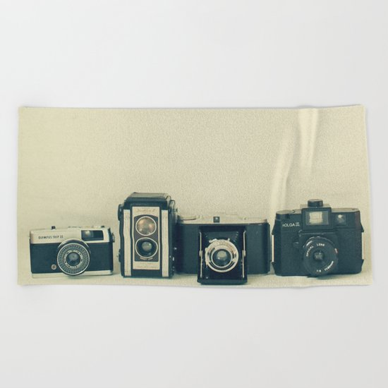 Camera Collection Beach Towel