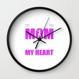 Gymnastics Moms Full Heart Mothers Day T-Shirt Wall Clock