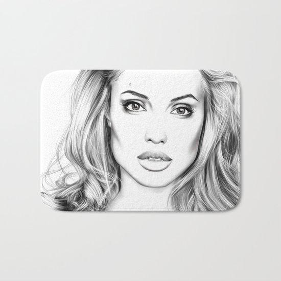 Angelina Jolie fanart Bath Mat
