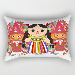 Maria 2 (Mexican Doll) Rectangular Pillow