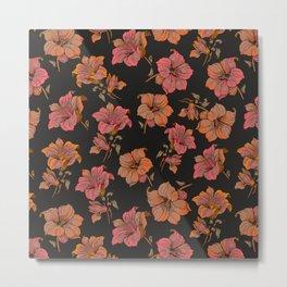 fall tropical floral Metal Print