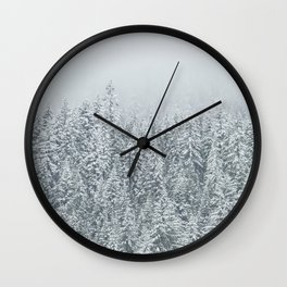 snow  forest winter trees Wall Clock