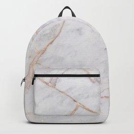 White Italian Marble & Gold Backpack