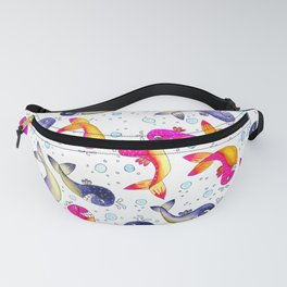 Whale Paisley Fanny Pack
