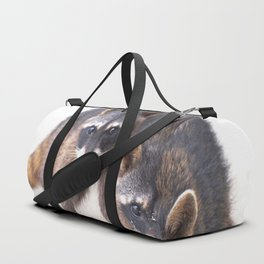Cute wild Racoons in Costa Rica Duffle Bag